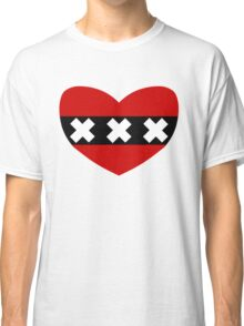 Heart Shaped Flag of Amsterdam Classic T-Shirt