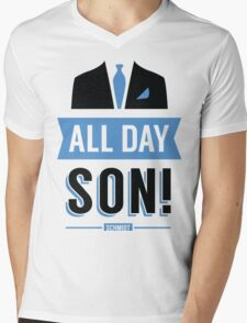 All Day Son Schmidt Tshirt | New Girl T-Shirt Tee Nick Miller Cece Winston Jess TV Quote Meme Gift Him Her douchebag jar Schmidt Happens uk Mens V-Neck T-Shirt
