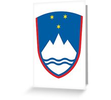 Coat of Arms of Slovenia  Greeting Card