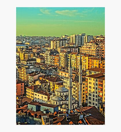 Sunrise over Istanbul Photographic Print