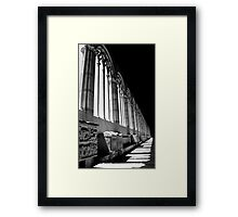 As Light Trails Into Darkness, So Will Your Troubles Subside... Framed Print