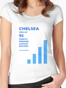 95 Points Premier League Record - Chelsea 2004/05 Women's Fitted Scoop T-Shirt