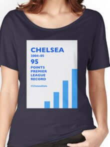 95 Points Premier League Record - Chelsea 2004/05 Women's Relaxed Fit T-Shirt