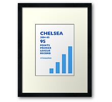 95 Points Premier League Record - Chelsea 2004/05 Framed Print