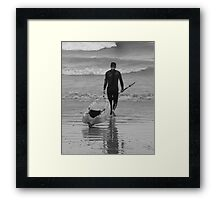 Out to Surf Framed Print