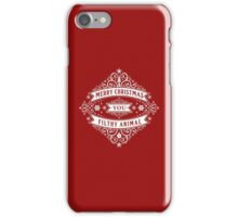 Merry Christmas You Filthy Animal (vintage) iPhone Case/Skin