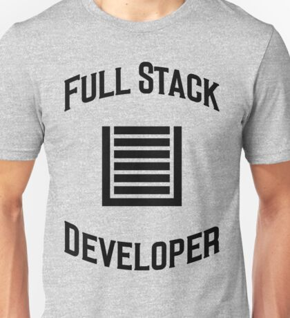 Full Stack Developer - Design for Web Developers Black Font Unisex T-Shirt