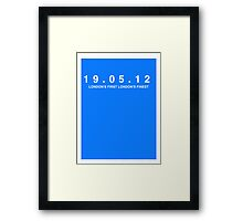 Chelsea FC. London's First London's Finest. 19th May 2012 Framed Print