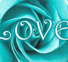 blue rose by maydaze