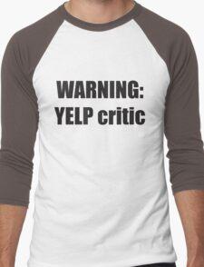 Warning Yelp Critic Tshirt | South Park Tee Cartman Butters Randy Kenny Stan Kyle Mens & Womens sizes | Cool Funny Geeky Gamer T-shirt Men's Baseball ¾ T-Shirt