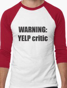 Warning Yelp Critic Tshirt   South Park Tee Cartman Butters Randy Kenny Stan Kyle Mens & Womens sizes   Cool Funny Geeky Gamer T-shirt Men's Baseball ¾ T-Shirt