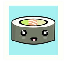 Kawaii Sushi Art Print