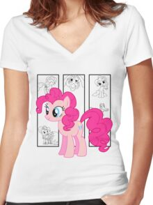 Pinkie Pie Tee Women's Fitted V-Neck T-Shirt
