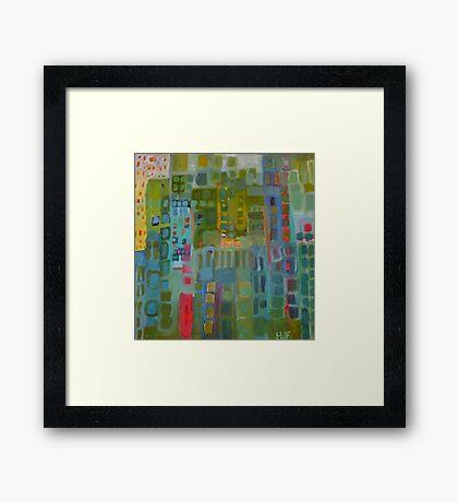the green city Framed Print