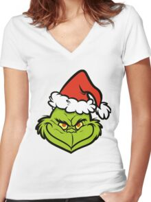 the Grinch Women's Fitted V-Neck T-Shirt