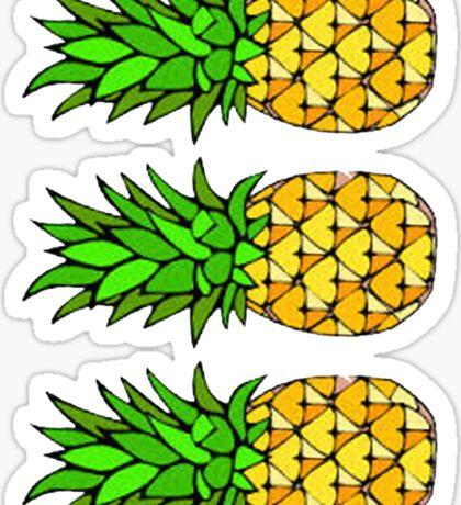Three Pinapples Sticker