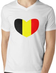 Love Belgium Mens V-Neck T-Shirt