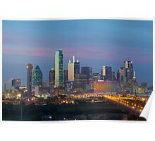 Dallas Skyline Image taken in the evening Poster