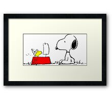 Woodstock and Snoopy Framed Print