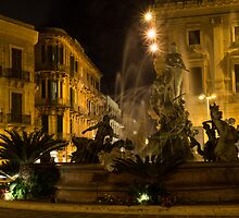 Diana Fountain -  Syracuse, Sicily by Georgia Mizuleva