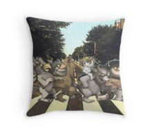 Crossing Abbey Road Throw Pillow