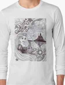 Monochrome Princess R Long Sleeve T-Shirt