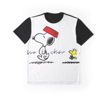 Funny Snoopy And Woodstock Graphic T-Shirt