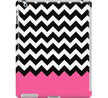 Pink Black White Chevron Zigzags iPad Case/Skin