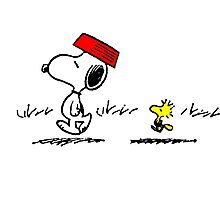 Funny Snoopy And Woodstock Photographic Print