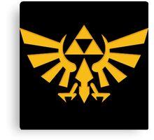 Royal crest The Legend of Zelda Triforce Video Game Logo Canvas Print