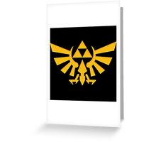 Royal crest The Legend of Zelda Triforce Video Game Logo Greeting Card