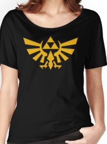 Royal crest The Legend of Zelda Triforce Video Game Logo Women's Relaxed Fit T-Shirt