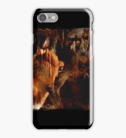 Alpha Male, Wolf Challenge, Battling Wolves iPhone Case/Skin