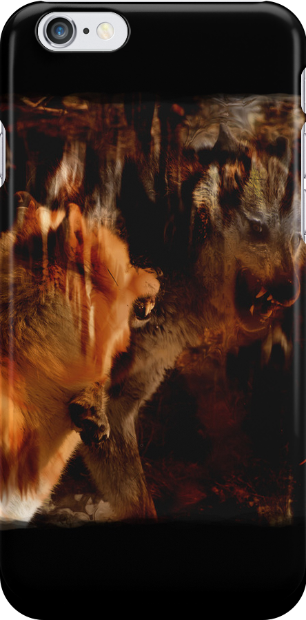 Alpha Male, Wolf Challenge, Battling Wolves by NaturePrints