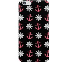 Anchor & Wheel Pattern iPhone Case/Skin