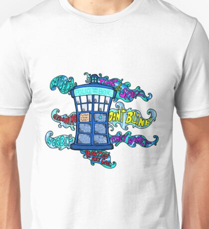 Tardis sounds off Unisex T-Shirt