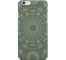Monogram pattern (A) in Deep Lichen iPhone Case/Skin