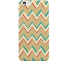 Pink Blue Tan Unique Chevron Pattern iPhone Case/Skin