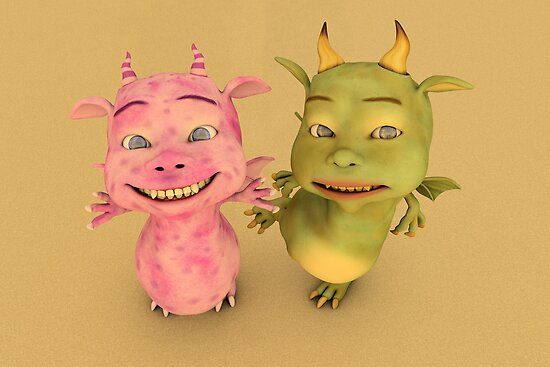 Cute Baby Dragons by Liam Liberty