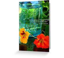 Mason Jar and Flowers Greeting Card