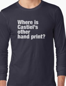 Where is Castiel's other hand print? T-Shirt