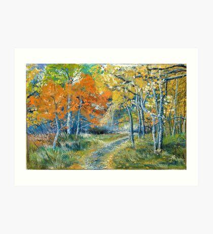 Autumn Dances Art Print