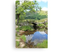 Slater's Bridge Little Langdale Cumbria Canvas Print