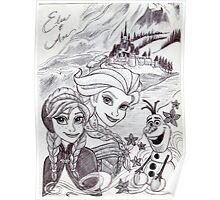 Monochrome Princesses A and E Poster