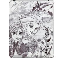 Monochrome Princesses A and E iPad Case/Skin