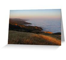 Big Sur Sunset, Timber Top, Ventana Wilderness, CA 2013 Greeting Card
