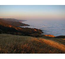 Big Sur Sunset, Timber Top, Ventana Wilderness, CA 2013 Photographic Print