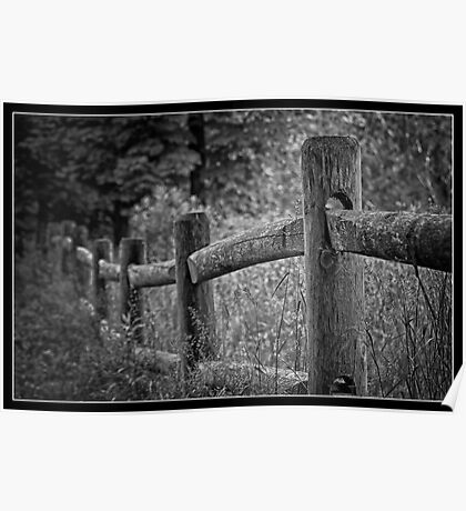Rustic Fence Poster
