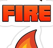 Baby's On Fire Sticker