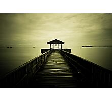 Tanjung Harapan Dock Path of Sangatta East Kutai East Borneo Indonesia Photographic Print